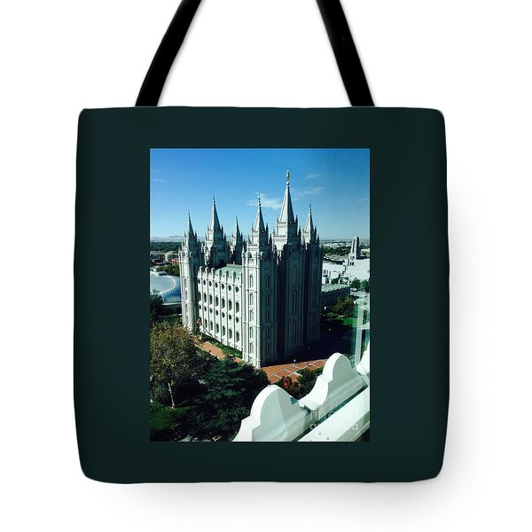 Salt Lake Temple The Church Of Jesus Christ Of Latter-day Saints The Mormons Tote Bag by Richard W Linford