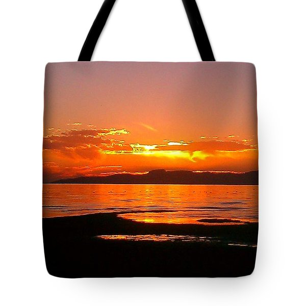 Salt Lakes A Fire Tote Bag
