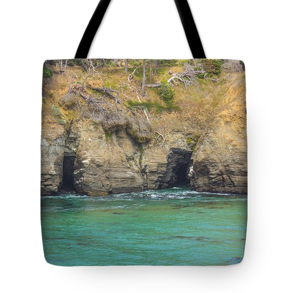 Salt Point Sea Caves Tote Bag