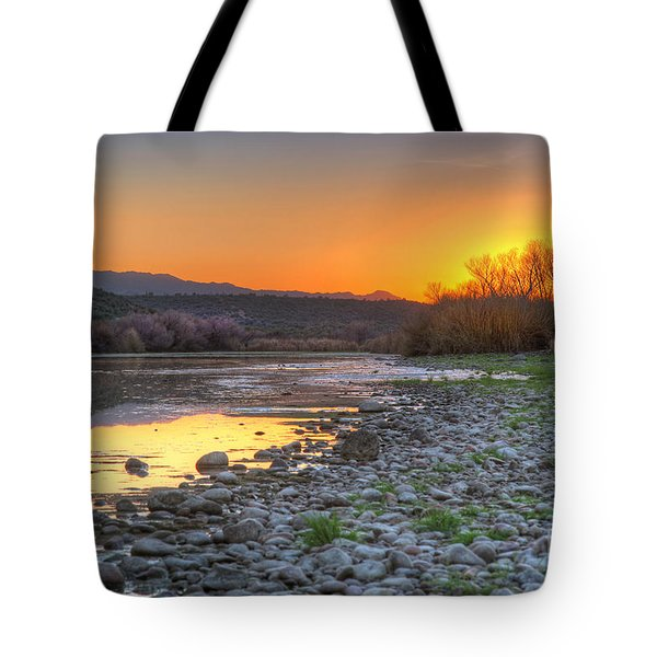 Salt River Bulldog Canyon Tote Bag by Martin Konopacki