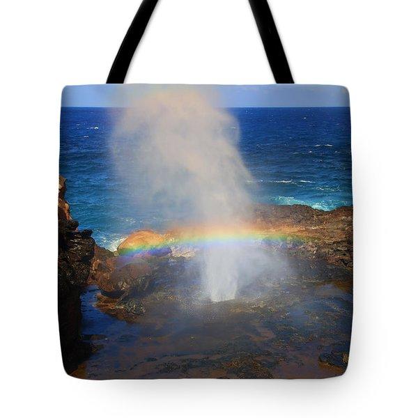 Salt Spray Rainbow Tote Bag by Mike  Dawson