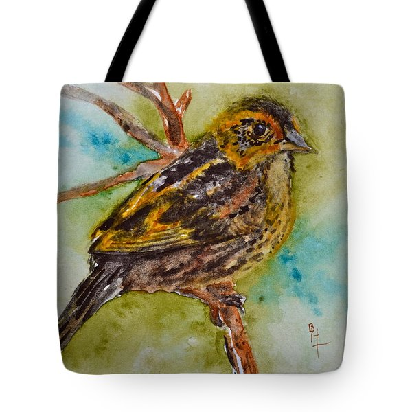 Saltmarsh Sparrow Tote Bag by Beverley Harper Tinsley