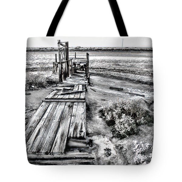 Salton Sea Dock Under Renovation By Diana Sainz Tote Bag
