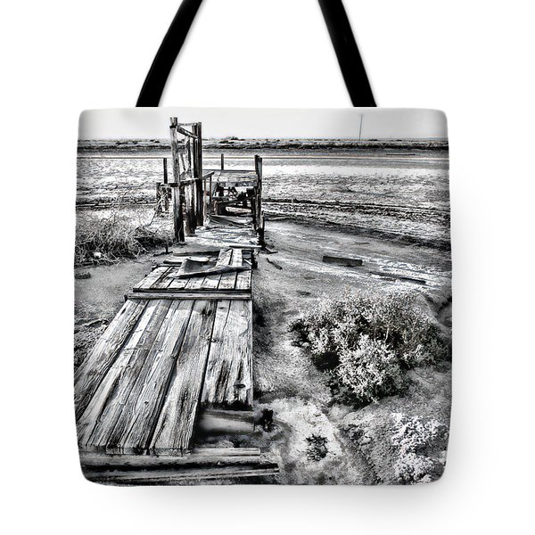 Salton Sea Dock Under Renovation By Diana Sainz Tote Bag