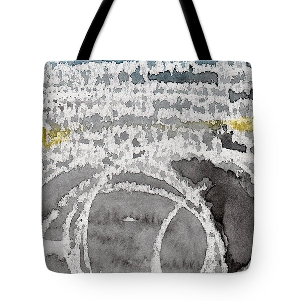 Saltwater- Abstract Painting Tote Bag by Linda Woods