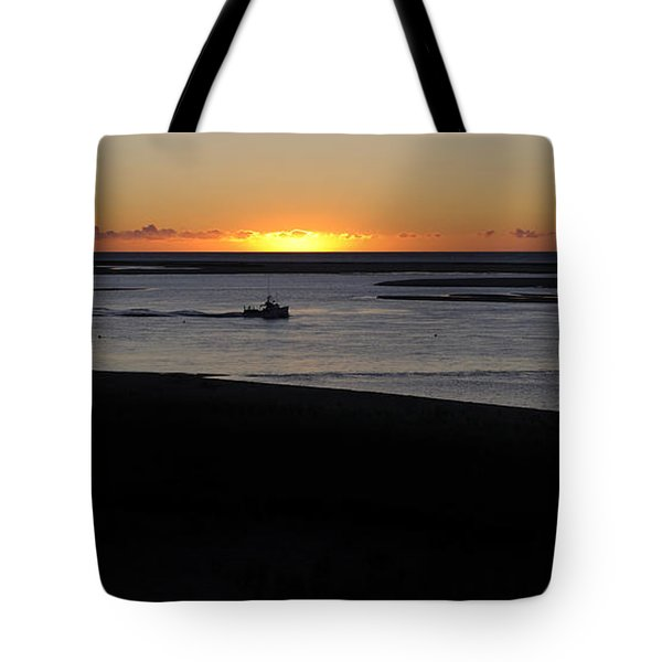 Salty Sunrise Tote Bag by Luke Moore
