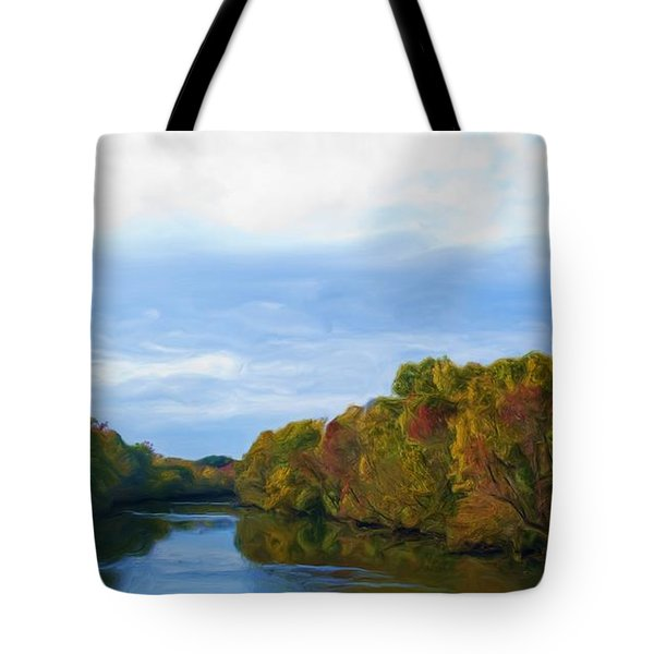 Saluda River In The Fall Tote Bag