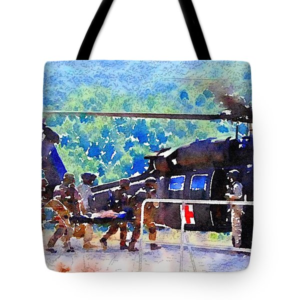 Tote Bag featuring the painting Salvation by Helge