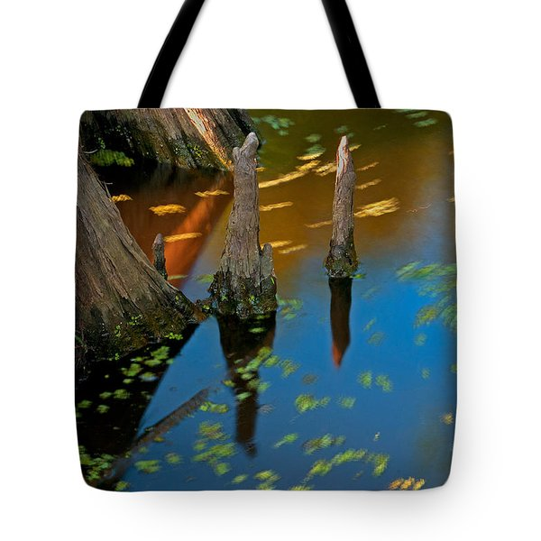 Tote Bag featuring the photograph salvinia In motion by Andy Crawford