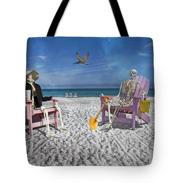 Sam And His Friend Visit Long Boat Key Tote Bag by Betsy Knapp