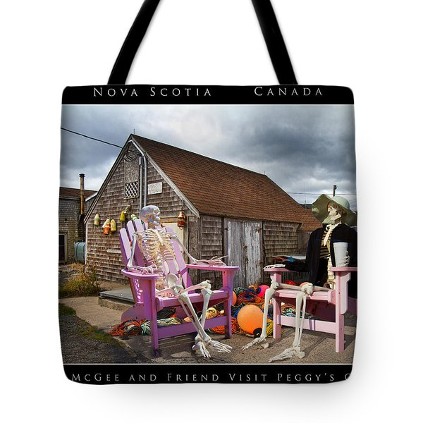 Sam And Peggy's Cove Tote Bag by Betsy Knapp