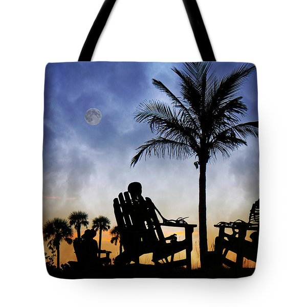 Sam Spends An Evening With Colleagues Tote Bag by Betsy Knapp