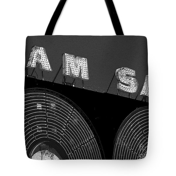 Sam The Record Man At Night Tote Bag