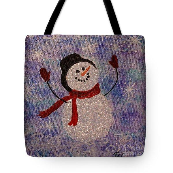 Sam The Snowman Tote Bag