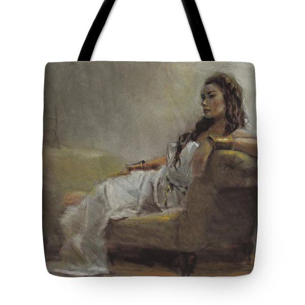 Samantha Painted From Life Tote Bag by Karen Whitworth