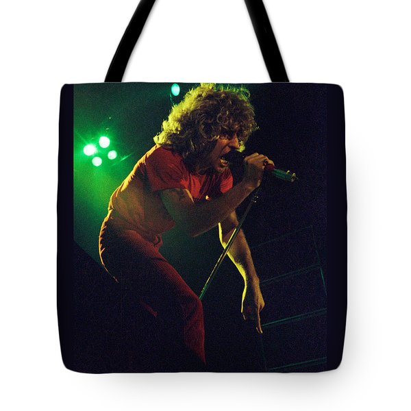Sammy Hagar New Years Eve At The Cow Palace 12-31-78 Tote Bag