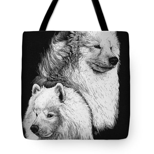 Samoyed Tote Bag by Rachel Hames