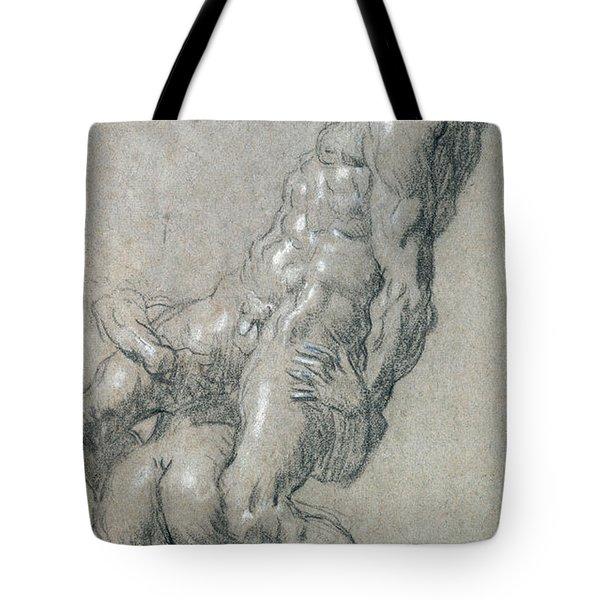 Samson Killing The Philistines Tote Bag
