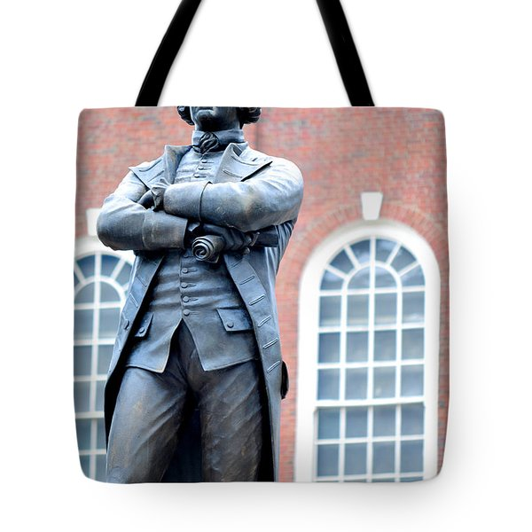 Samuel Adams Statue Massachusetts State House Tote Bag