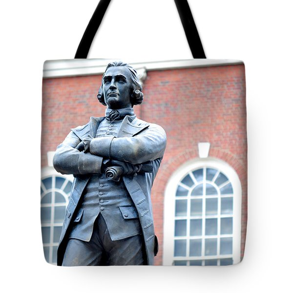 Samuel Adams Statue Massachusetts State House Tote Bag