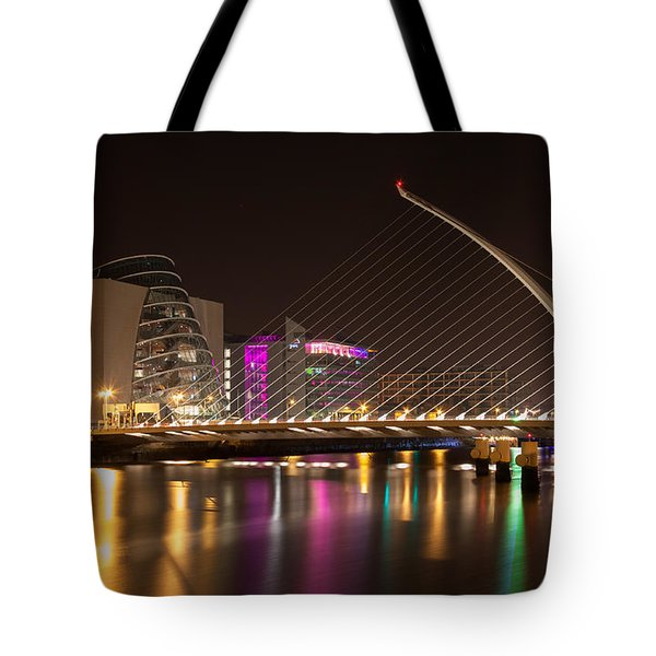 Samuel Beckett Bridge In Dublin City Tote Bag