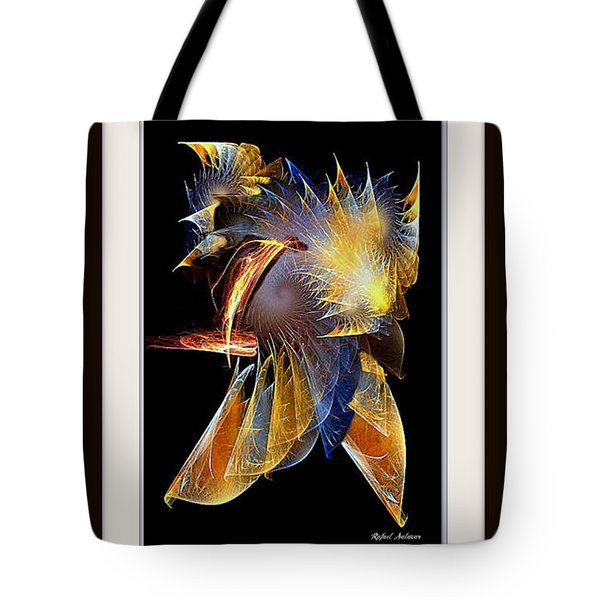 Tote Bag featuring the painting Samurai by Rafael Salazar