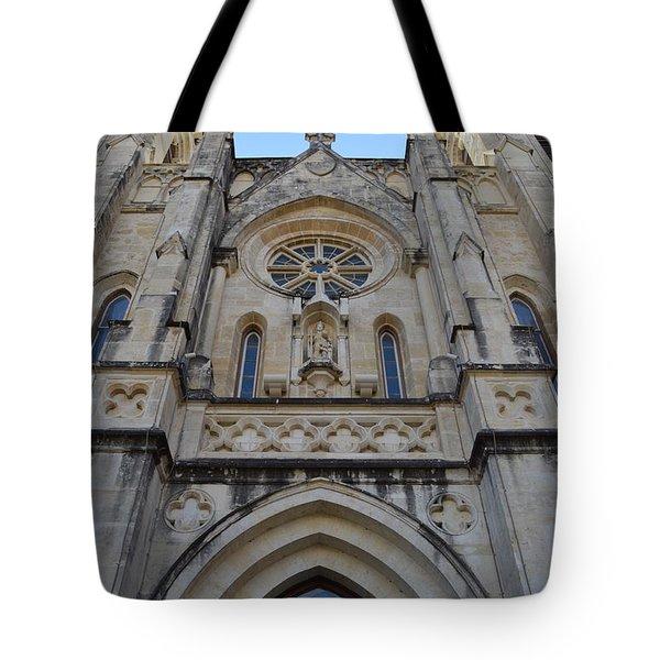 San Antonio Church 02 Tote Bag by Shawn Marlow