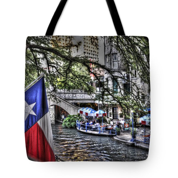 San Antonio Flag Tote Bag by Deborah Klubertanz