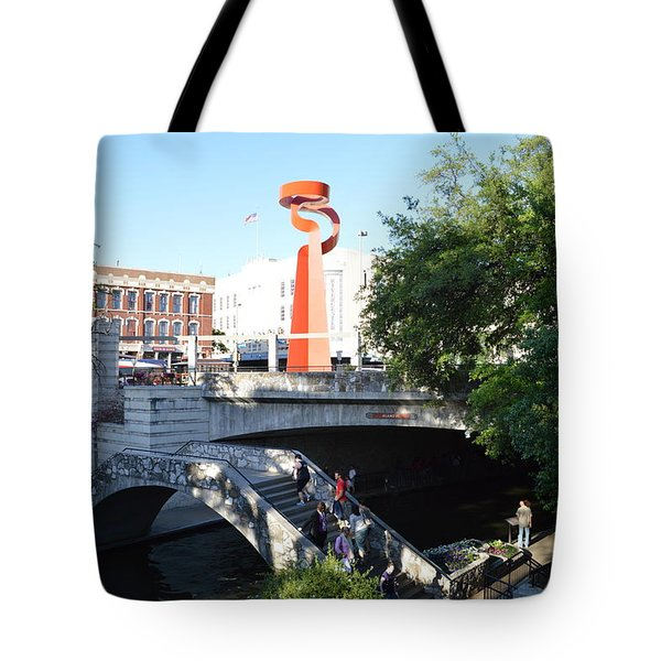 Tote Bag featuring the painting San Antonio River 01 by Shawn Marlow