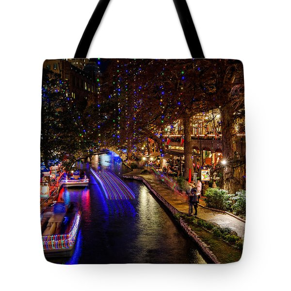 San Antonio Riverwalk During Christmas Tote Bag