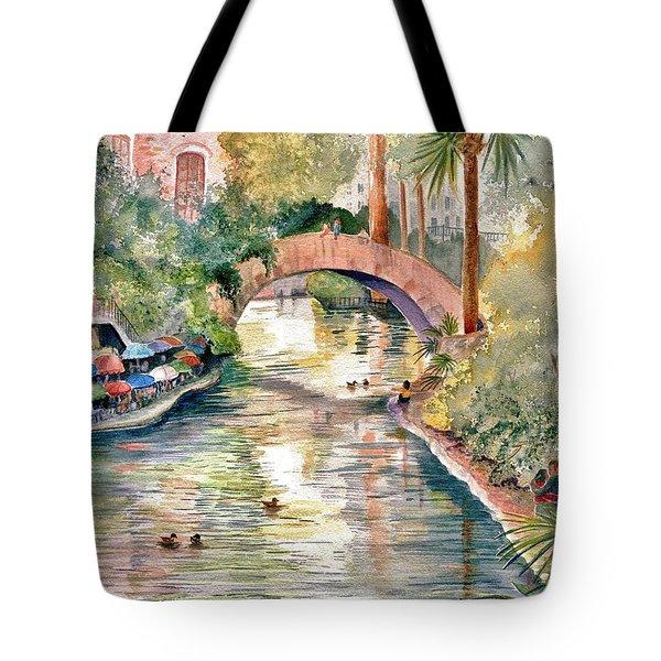 San Antonio Riverwalk Tote Bag by Marilyn Smith