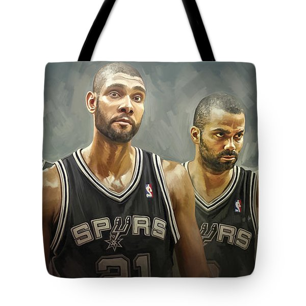 San Antonio Spurs Artwork Tote Bag
