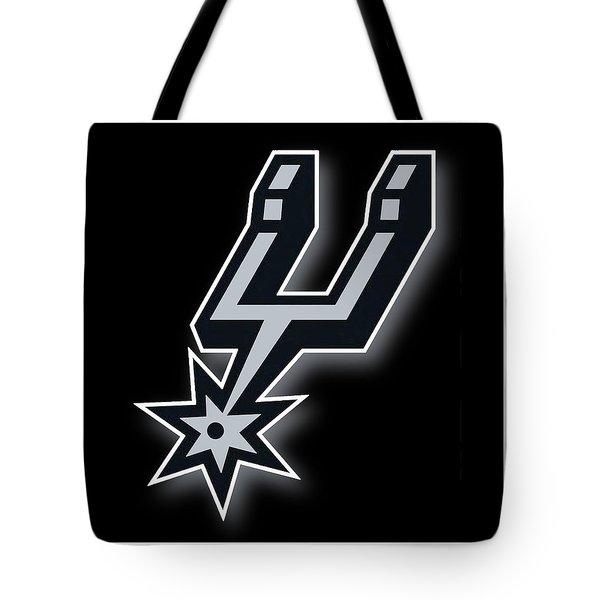 San Antonio Spurs Tote Bag by Tony Rubino