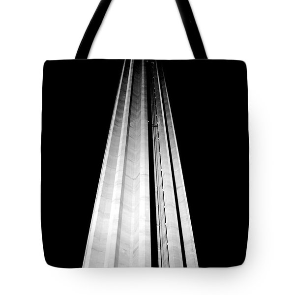 San Antonio Tower Of The Americas Hemisfair Park Space Needle Tower Restaurant Black And White Tote Bag by Shawn O'Brien
