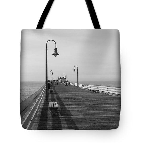 San Clemente Pier Tote Bag by Ana V Ramirez