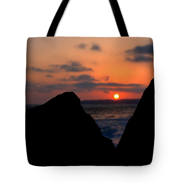 Tote Bag featuring the photograph San Clemente Rocks Sunset by Matt Harang
