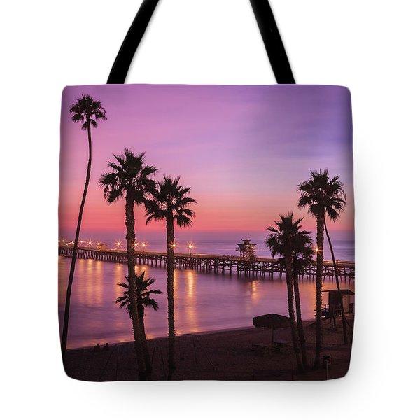 San Clemente Sunset Meditation Tote Bag