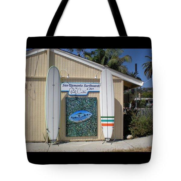 San Clemente Surfboards Tote Bag