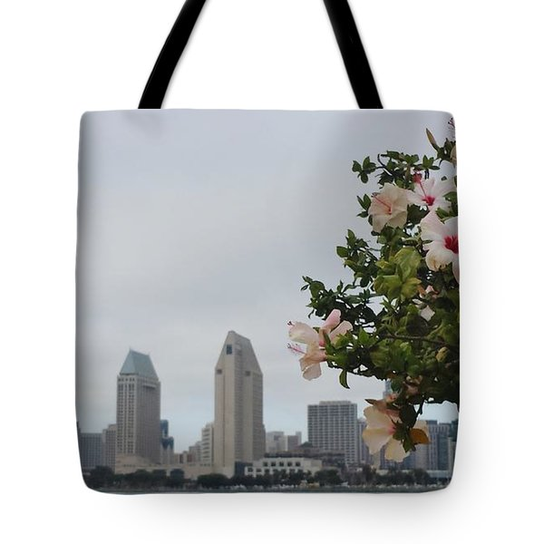 Tote Bag featuring the photograph San Diego From Coronado View by Jasna Gopic