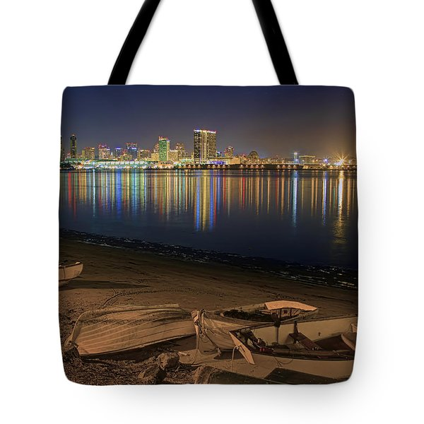 San Diego Harbor Lights Tote Bag