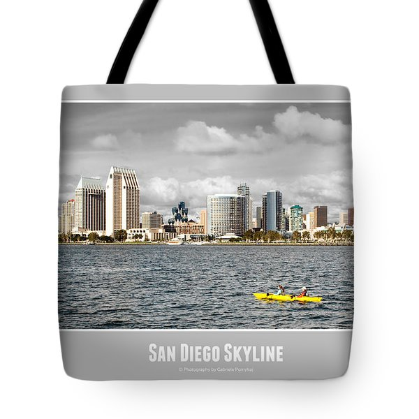 San Diego Skyline - Poster Style Tote Bag