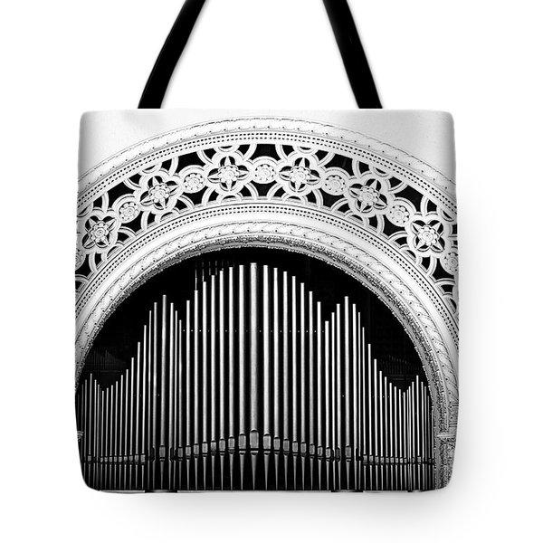 San Diego Spreckels Organ Tote Bag by Christine Till