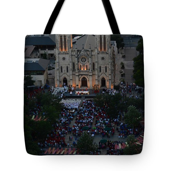 San Fernando Cathedral 001 Tote Bag by Shawn Marlow