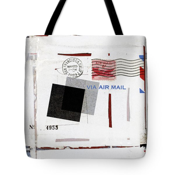 San Francisco 1952 Air Mail Square Tote Bag