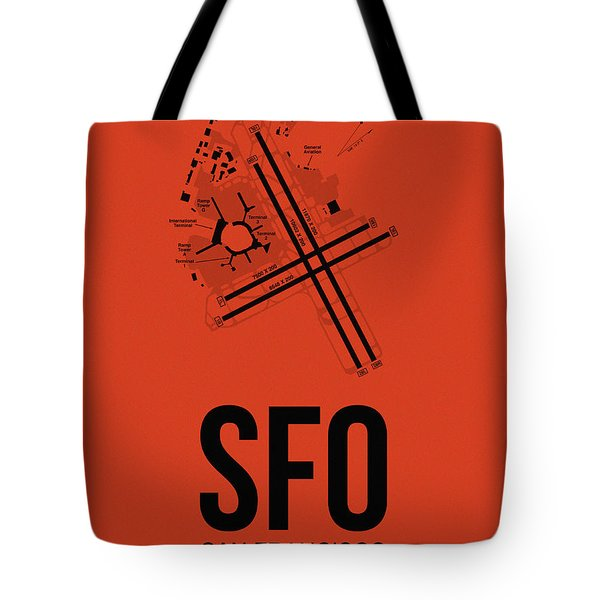 San Francisco Airport Poster 2 Tote Bag