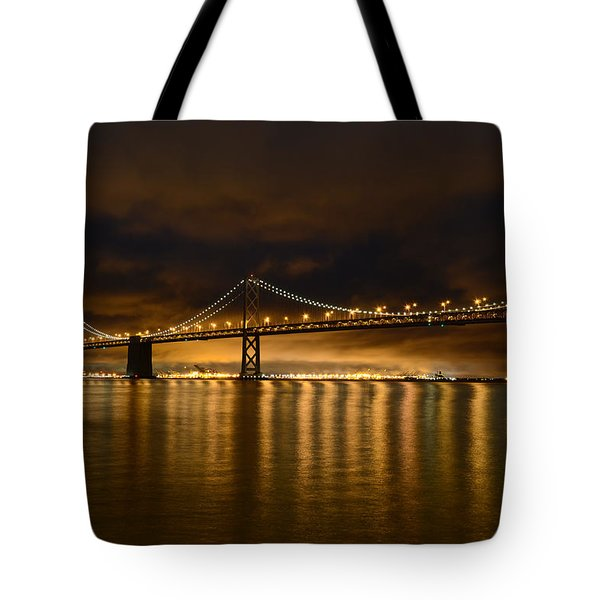 San Francisco - Bay Bridge At Night Tote Bag