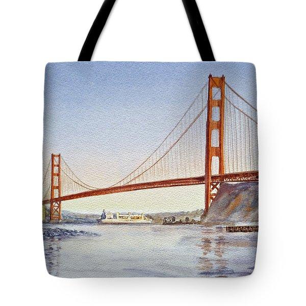 San Francisco California Golden Gate Bridge Tote Bag