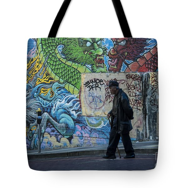 San Francisco Chinatown Street Art Tote Bag by Juli Scalzi