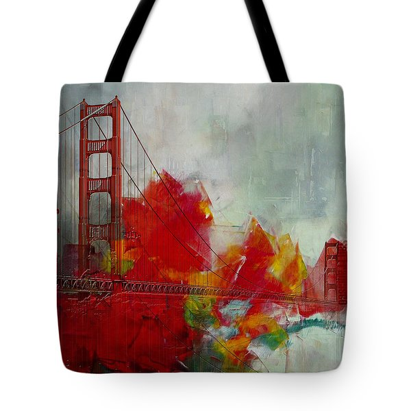 San Francisco City Collage Tote Bag by Corporate Art Task Force