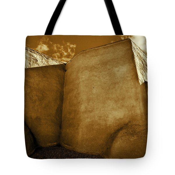 Tote Bag featuring the photograph San Francisco De Asis Mission Church Taos II by John Hansen